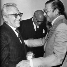 Guillermo Cano y José Salgar, amigo y compañero de profesión.