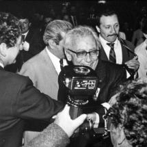 Guillermo Cano junto a Luis Carlos Galán en el Hotel Tequendama.