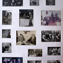 Collage realizado por doña Ana María Busquets de Cano. En las fotos puede verse a don Guillermo Cano con distintos personajes ilustres.