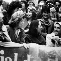 Don Guillermo Cano y su esposa Ana María Busquets de Cano en compañía de Gabriel García Márquez y su esposa Mercedes Barcha.