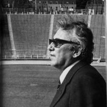 Don Guillermo Cano en el estadio del F. C. Barcelona, equipo del que fue siempre hincha